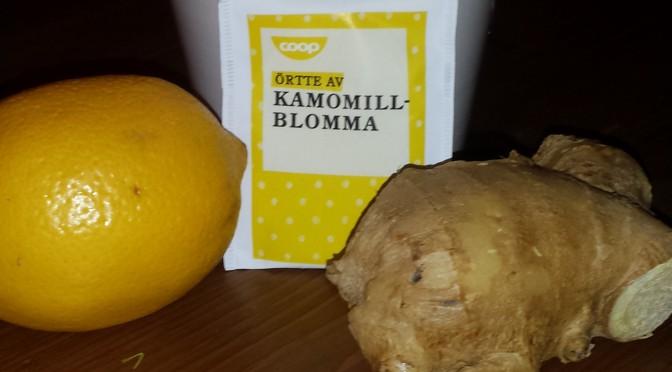 Välgörande te med ingefära och citron