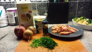 Laxsås ingredienser